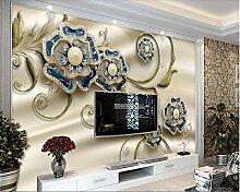 Exquisite luxus europäischen relief muster