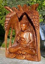 Exquisiter BUDDHA Meditation im Baum HOLZ BUDDA