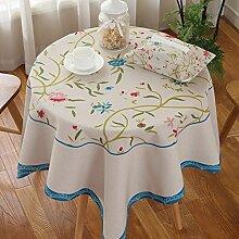 Exquisites tischtuch kreativ drucken kaffee tisch tuch schreibtisch tischtuch möbel-A 140x140cm(55x55inch)