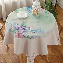 Exquisites tischtuch kreativ drucken kaffee tisch tuch schreibtisch tischtuch möbel-C 110x110cm(43x43inch)