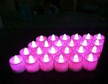 EXQULEG 24 LED Kerzen, LED Flammenlose Tealights,