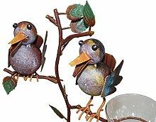 Exr Regenmesser – Vogelpaar aus Metall, Gartendeko