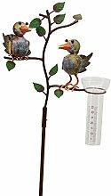 Exr Regenmesser - Vogelpaar aus Metall, Gartendeko