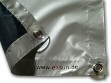 Exsun Roto Sonnenschutz Rollo Dachfenster Verdunkelung Hitzeschutz Thermofix (unbedingt Glasfläche innen ausmessen und vergleichen)! (Roto 05/09 = 32x76cm, blau)