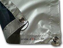 eXsun Sonnenschutz für Velux C02 / 102 Dachfenster Rollo, Hitzeschutz, Verdunkelungsrollo - mit Krafthaftsaugern, kein Bohren - kein Nageln - kein Schrauben (GGU, GGL, GPU, GPL, GHU, GHL, GTU, GTL, GXU, GXL, VU, VL, VKU)