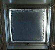 eXsun Sonnenschutz für Velux Dachfenster Rollo, Hitzeschutz, Verdunkelungsrollo - mit Krafthaftsaugern, kein Bohren - kein Nageln - kein Schrauben (Alle Typen! GGU, GGL, GPU, GPL, GHU, GHL, GTU, GTL, GXU, GXL, VU, VL, VKU) WICHTIG = Größe! Bitte auswählen!** Super einfach - der Sonnenschutz wird direkt auf die Glasscheibe - mit Krafthaftsauger - angebracht.. Komplett!! Alles dabei! * (Blau / Silber, Velux PK 10 = 76x140cm)