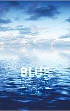 EXTARTIQE Duschrollo 150cm Textil Blue Ocean