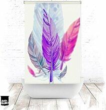 EXTARTIQE Duschrollo 150cm Textil Feder lila