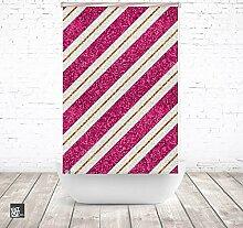EXTARTIQE Duschrollo 150cm Textil Pattern Stripes