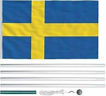 Extaum Flagge Fahne Europa Nationalflagge Teleskop