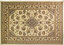 Extra große Classic Orient Perser-Stil Blumen Traditionelle Teppich Läufer/Matte, beige–67x 300cm