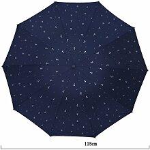 Extra Großer Falten Sonnenschutz Doppelnutzung Großer Verstärkt Winddicht Klar Regenschirm,01