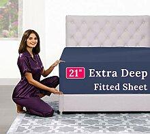 Extra tiefe Spannbettlaken für King-Size-Betten