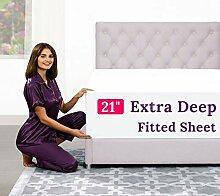 Extra tiefes Queen-Size-Bettlaken – 4-teilig