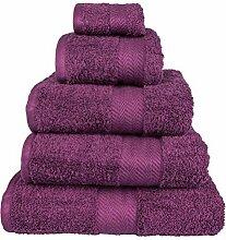 Extra weiches Luxus Duschtuch 70x130 cm 100 % ägyptische Baumwolle in dunkel lila-viole