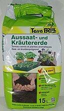 Extrafeine Blumenerde für die Aussaat und den Anbau von Gemüse und Kräutern, Inhalt: 15Liter