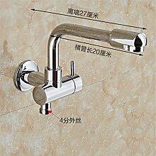 Extralange Waschmaschine mit kaltem Leitungswasser-mops pool Hähne in zwei von drei Wasser Spülen der Düse Spritzpistole, -4) Sub-Thread-27 CM