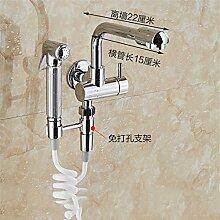 Extralange Waschmaschine mit kaltem Leitungswasser-mops pool Hähne in zwei von drei Wasser Spülen der Düse Spritzpistole E) - Seite - weißes Rohr-22 CM
