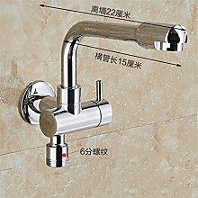 Extralange Waschmaschine mit kaltem Leitungswasser-mops pool Hähne in zwei von drei Wasser Spülen der Düse Spritzpistole C-6) Sub-Thread-22 CM