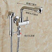Extralange Waschmaschine mit kaltem Leitungswasser-mops pool Hähne in zwei von drei Wasser Spülen der Düse SpritzpistoleD)-Side-Hose Spritzpistole-27 Cm