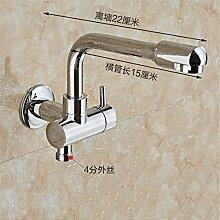 Extralange Waschmaschine mit kaltem Leitungswasser-mops pool Hähne in zwei von drei Wasser Spülen der Düse Spritzpistole, -4) Sub-Thread-22 CM