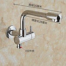 Extralange Waschmaschine mit kaltem Leitungswasser-mops pool Hähne in zwei von drei Wasser Spülen der Düse Spritzpistole, -4) Sub-Thread-35 CM