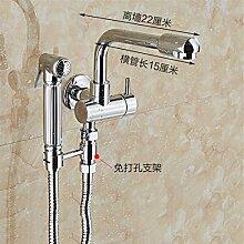 Extralange Waschmaschine mit kaltem Leitungswasser-mops pool Hähne in zwei von drei Wasser Spülen der Düse Spritzpistole, Abschn. D)-Schlauch-22cm Spritzpistole