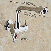 Extralange Waschmaschine mit kaltem Leitungswasser-mops pool Hähne in zwei von drei Wasser Spülen der Düse Spritzpistole, Abs. B) -4 Stunden-22 cm einraste