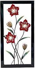 Extravagante Wanddeko Wandornament Wandbild Blume