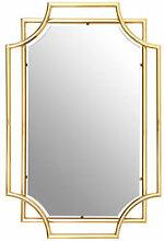 Extravaganter Messing-Spiegel mit raffinierter