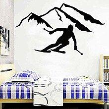 Extremsport alpine Skifahrer Vinyl Wandaufkleber