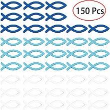 EXTSUD 150 Stücke Deko Fisch Holz Fische