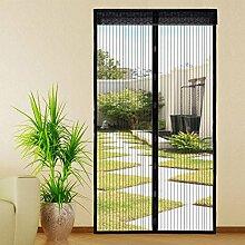 Extsud Magnet Fliegengitter Tür Insektenschutz 100x220 cm Magnetischer Fliegenvorhang Moskitonetz Automatisches Schließen Insektenschutz für Balkontür Wohnzimmer Terrassentür Klebmontage ohne Bohren
