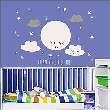 Exuan Smiley Stars White Cloud Aufkleber Cartoon