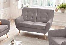 exxpo - sofa fashion 2-Sitzer silberfarben