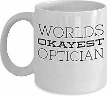 Eye Doctor Coffee Mug Worlds Okayest Optician