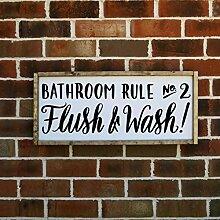 Eyrrme Badezimmer-Wandkunst, Motiv Zweier Flush
