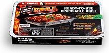 EZ Grill Einweg-Grill, tragbar Large Grill 1 Pack