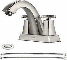 EZANDA 2-Griff-Badezimmer-Waschbecken-Wasserhahn,