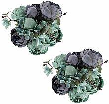 EZFLOWERY Künstliche Pfingstrosen Seidenblumen,