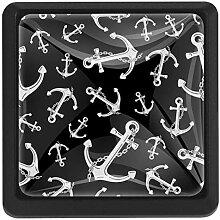 EZIOLY Ankerkette maritime quadratische
