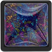 EZIOLY Blumen-Muster, quadratisch,
