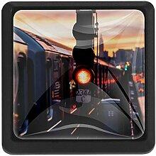 EZIOLY City Train Quadratische Küchenknöpfe,