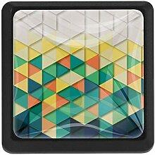 EZIOLY Dreieck Muster Quadratische Küche