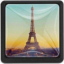 EZIOLY Eckige Küchengriffe, Eiffelturm,