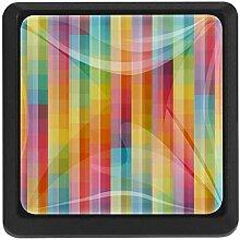 EZIOLY Farbenfrohe Textur abstrakte quadratische