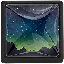 EZIOLY Flache Sternennacht quadratische
