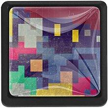 EZIOLY Geometrie-Hintergrund, quadratisch,