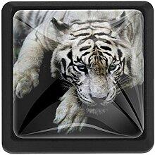 EZIOLY Großer weißer Tiger quadratischer