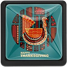 EZIOLY Happy Thanksgiving Truthahnknöpfe,